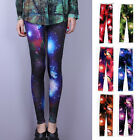 New Ladies Galaxy Cosmic Printed Stretchy Tights Leggings Pants Chic Graphic O