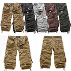 New Mens Cotton Hobo Summer Cool Pants Men Relaxed Fit Cargo Shorts No Belt R53