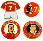 United Badge Selection Eric Cantona Legend of Manchester Lapel Pin Gift