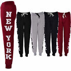 WOMENS NEW YORK TEXT LADIES TROUSER JOGGER GYM PANTS LEGGINGS BOTTOMS