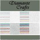 360 Diamante Self Adhesive Rhinestone Craft Embellishment  Gems Sizes 1mm - 4mm