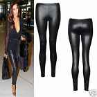 NEW WOMEN'S LADIES SHINY WET LOOK CELEB STYLE FULL LENGTH LEGGING PANTS TROUSER
