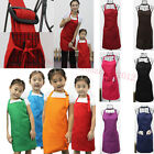 Plain Adults Apron With Front Pocket Chefs Aprons Kitchen Cooking Craft Baking
