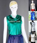 Womens Ladies 19mm 100% Pure Silk Cowl Neck T Shirts Tank Tops Tee AF069