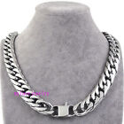 316L Stainless Steel Heavy 6 FACETED CUT Cuban Curb Necklace  HAND POLISHED