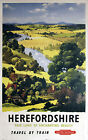 HEREFORD Vintage Deco Railway/Travel Poster A1,A2,A3,A4 Sizes