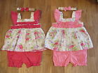 BABY GIRLS 3 PIECE SUMMER SUNDRESS DRESS SET OUTFIT WITH BLOOMERS & BOW HEADBAND