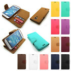 Sonata pu-leather card hold stand Wallet case cover For Samsung Galaxy Series