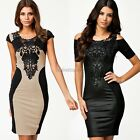 European Fashion New Women Bodycon Bandage Dress Casual Dress with Embroidery It