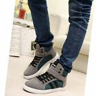 New Men's Ankle Boots Fashion Male Sports Shoes Cotton Striped Sneakers XMR085