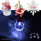 ACRYLIC LED SANTA SNOWMAN SNOWFLAKE CHRISTMAS XMAS LIGHTS STRING DECORATION