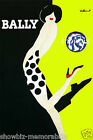 Bally Neon print poster large 4 sizes available Villemot french shoe vintage