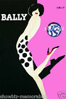 Bally Pink print poster large 4 sizes available Villemot french shoe vintage