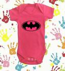BABY GIRLS BATMAN/GIRL VEST IN PINK 100% COTTON PERFECT PERSONALISED GIFT