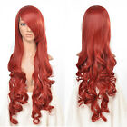 Multi Color 33inch Heat Resistant Curly Synthetic Cosplay Party Hair Extensions