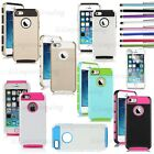 Hybrid TPU + PC 2-Piece Style Soft Hard Armor Style Case Cover for iPhone 5/5S