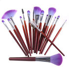 7/12/16/20/24/32PCS Makeup Brush Set with Fashion Pouch Bag 3 Colours Option New