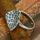 STERLING SILVER LEAF RING SOLID .925 /NEW SIZE J-Y JEWELLERY