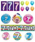 7th Birthday AGE 7 - Large Range of Party BALLOONS - Foil/Latex/Airfill/Helium