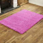 NEW X LARGE-LARGE-MEDIUM-SMALL PINK MODERN THICK 5CM HIGH PILE SHAGGY RUGS