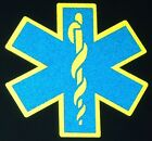 Double Reflective STAR OF LIFE Decal><You Choose Colors>< EMS FIRE RESCUE EMT