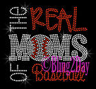NEW - The REAL MoMs of Baseball Rhinestone Iron on Transfer Hot Fix Bling School