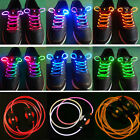 Hot LED Light Up Shoes Shoelaces Flash Glow in Dark Stick Disco Shoestrings NEW