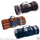 Tartan Fleece Travel Blanket - Home Pet Car Picnic CAMPING WINTER RUG THROW