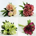 Artificial Silk Wedding Bridal Brides Flower Stem Flowers Peony Bouquet Posy B38