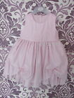GIRLS BABY PINK DRESS WITH ROSEBUD AND DIAMANTE DETAIL WEDDING OCCASION OUTFIT