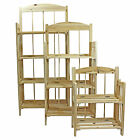 Wooden Folding Display Bookcase Shelving Storage Units 2/3/4 tiers Clearance New