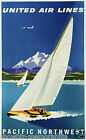 united airlines vintage print poster, large 4 sizes available, Airline 27