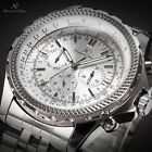 KS Luxury Men's Day Date 24 Hours Automatic Mechanical Wrist Watch + Bookmark