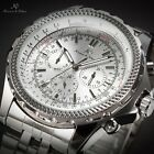 KS Luxury Men's Day Date 24 Hours Automatic Mechanical Wrist Watch