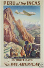 PAN AMERICAN vintage airlines print poster, large 4 sizes available, Airline 136