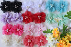 Wholesale 10x Chiffon Flowers DIY Embellishments Craft for Headband Hair Clips