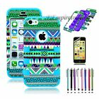 New Colorful Heavy Duty Hybrid Rugged Hard Design Case Cover For iPhone 5C 5 5S