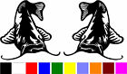 2 CATFISH fishing car truck boat vinyl stickers (V-031)