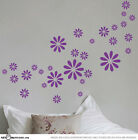 Large Daisy Flowers Car / Window / Wall Vinyl Stickers Bumper Decal 30pcs