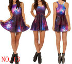 2015 New Sexy Women Galaxy dress Cartoon Adventure Time Dress SKATER  HOT