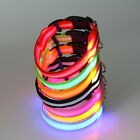 Useful High Quality Flashing Bright LED Light Pet Dog Safety Nylon Collar S M L