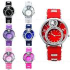 New Bling Crystal Candy Silicone Women Lady Girl Sport Analog Quartz Wrist Watch