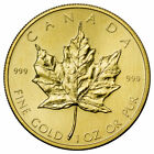 Random Date Canada 1 Troy Oz .9999 Gold Maple Leaf $50 Coin SKU26124