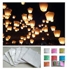 LARGE 5 30 50 100 WISH SKY FIRE CHINESE LANTERNS FOR WEDDING BIRTHDAY XMAS PARTY