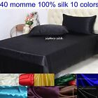 40mm Heavy Weight 100% Pure Silk Flat Sheets & Pillow Case Covers Set All Size
