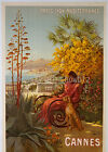 vintage Cannes French travel  print poster, large 4 sizes available, France 22