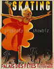 Vintage French skating print poster, large 4 sizes available, France 89