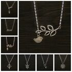 1Pcs Mixed Style Pattern Tibet Silver Tone Pendant Rhodium Neclace Fit Gift