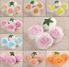 50Pc*  6.5cm DIY Shiny Flower Artificial Foam Rose Heads Wedding Home Favor FH37