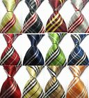 Yellow Green Blue Red Striped New Silk Classic JACQUARD WOVEN Men's Tie Necktie